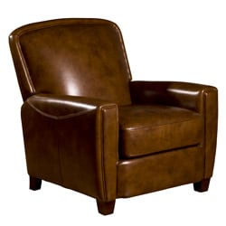 Chester Leather Press Back Chair in Brown