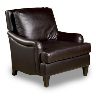 Henri Leather Chair in Dark Brown