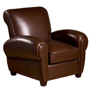 Marbella Leather Press Back Chair in Coffee