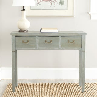 Sete 3-drawer Antiqued Grey Console Table