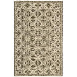 Nourison Hand-hooked Brown Country Heritage Rug (3'6 x 5'6)