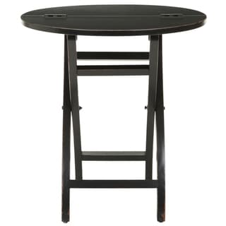 Safavieh York Black Round Folding Table