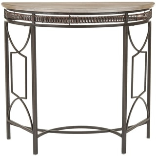 Sete Antiqued Copper Finish Console Table