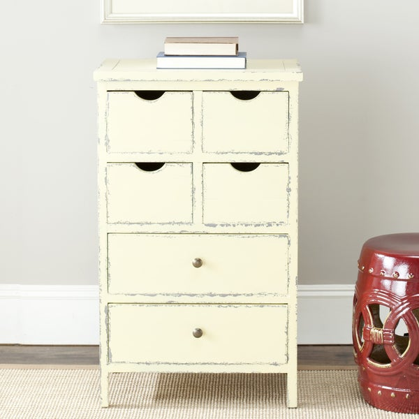 Safavieh Sete Antiqued Cream Storage 6-drawer Chest