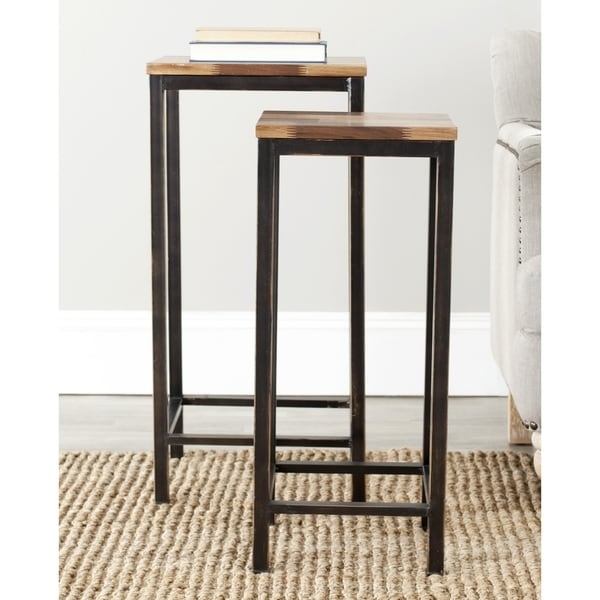 Safavieh Vienne Brown Nesting Table (Set of 2)