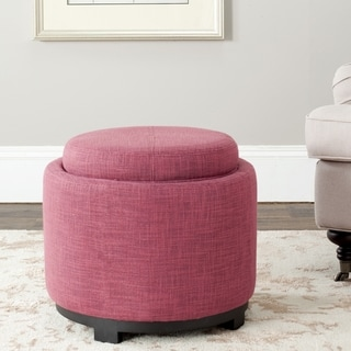 Safavieh Broadway Single Tray Rose Viscose Storage Ottoman