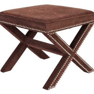 Safavieh X-Bench Nailhead Brown Ottoman