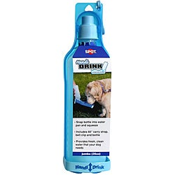 Ethical Pet Handi-Drink 25-ounce Instant Blue Dog Drinker Bottle