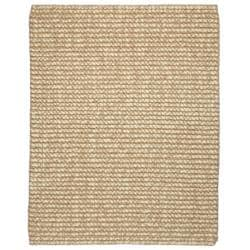 Hand-woven Lhasa Ribbed Loop Wool and Jute Rug (4' x 6')