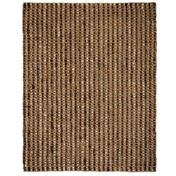 Handwoven Sutra Brown/ Ivory Ribbed Jute Rug (8' x 10')