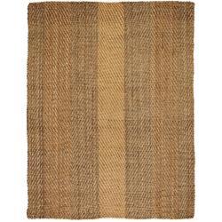 Hand-woven Victory Herringbone Jute Rug (8' x 10')