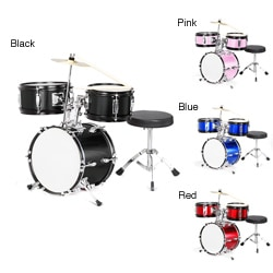 Childrens 3-piece Complete Drum Set