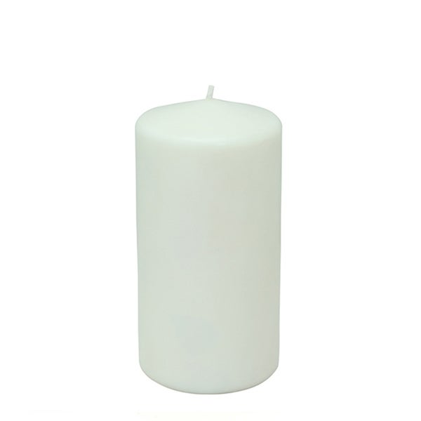 3x6 Inch White Pillar Candles (Case of 12)