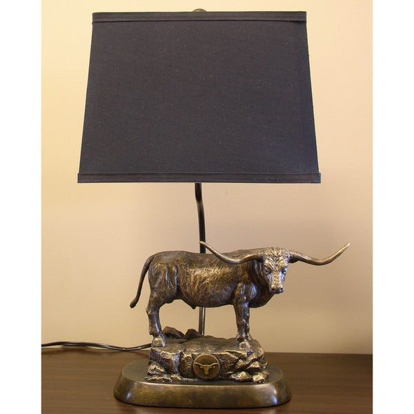 Texas Longhorns Tim Wolfe Sculpture Lamp