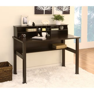 Furniture of America Kyle Cappuccino Office/Writing Desk with MIni Hutch