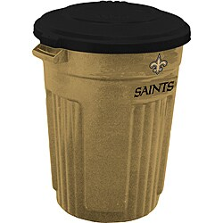 New Orleans Saints 32-gallon Trash Can