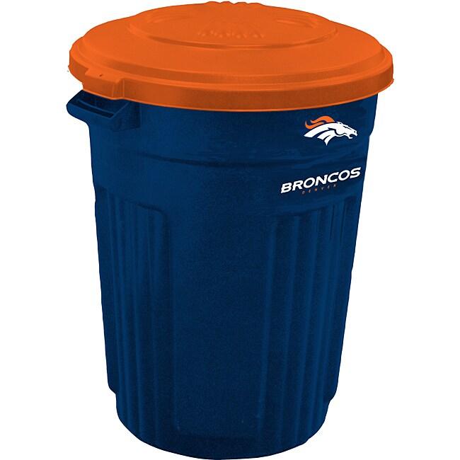 Denver Broncos 32-gallon Trash Can
