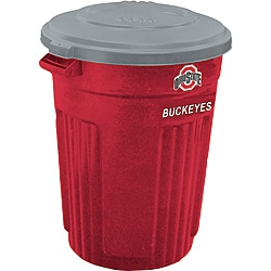 Ohio State 32-gallon Trash Can