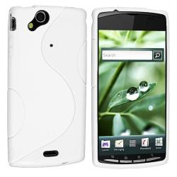 Frost White S Shape TPU Rubber Skin Case for Sony Ericsson Xperia X12