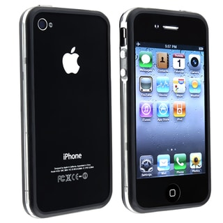 Clear/ Black TPU Rubber Skin Bumper Case for Apple iPhone 4/4S