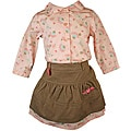 Laura Ashley Baby Girl's Flowered Shirt and Skirt Set