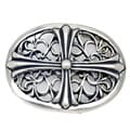 Pewter Oval Cross Buckle
