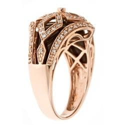 D'Yach 14k Rose Gold Inlaid Onyx and 2/5ct TDW Diamond Ring (G-H, I1-I2)