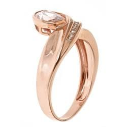 D'Yach 10k Rose Gold Morganite and 1/10ct TDW Diamond Ring (G-H, I1-I2)