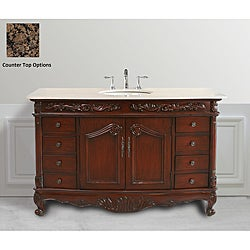 Design Element Heritage 61-inch Single Sink Traditional Vanity Set