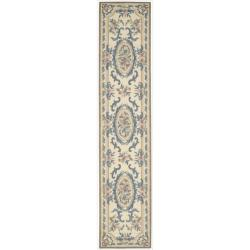 Nourison Hand-hooked Beige Country Heritage Rug (2'3 x 11')