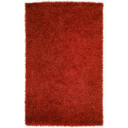 Hand-woven Red Lugo Soft Shag (3'6 x 5'6)