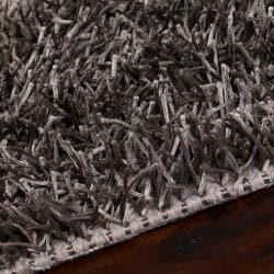 Hand-woven Brown Juncal Soft Shag (1'9 x 2'10)