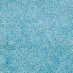 "Casual Handwoven Blue Vivid Soft Shag (1'9"" x 2'10"")"