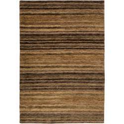 Hand-woven Brown Trinidad Natural Fiber Hemp Rug (5' x 8')