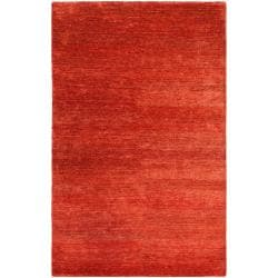 Hand-woven Red Trinidad Natural Fiber Hemp Rug (5' x 8')