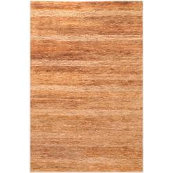 Hand-woven Brown Trinidad Natural Fiber Hemp Rug (8' x 11')