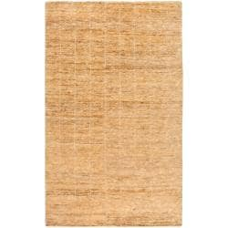 "Casual Handwoven Brown Trinidad Natural Fiber Hemp Rug (3'3"" x 5'3"")"