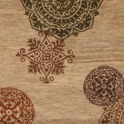 Hand-tufted Tan Surroundings New Zealand Wool Rug (5' x 8')