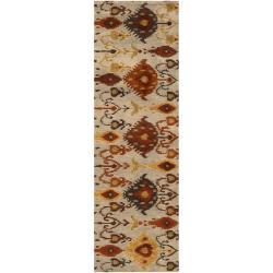 Hand-tufted Ivory Knik New Zealand Wool Rug (2'6 x 8')