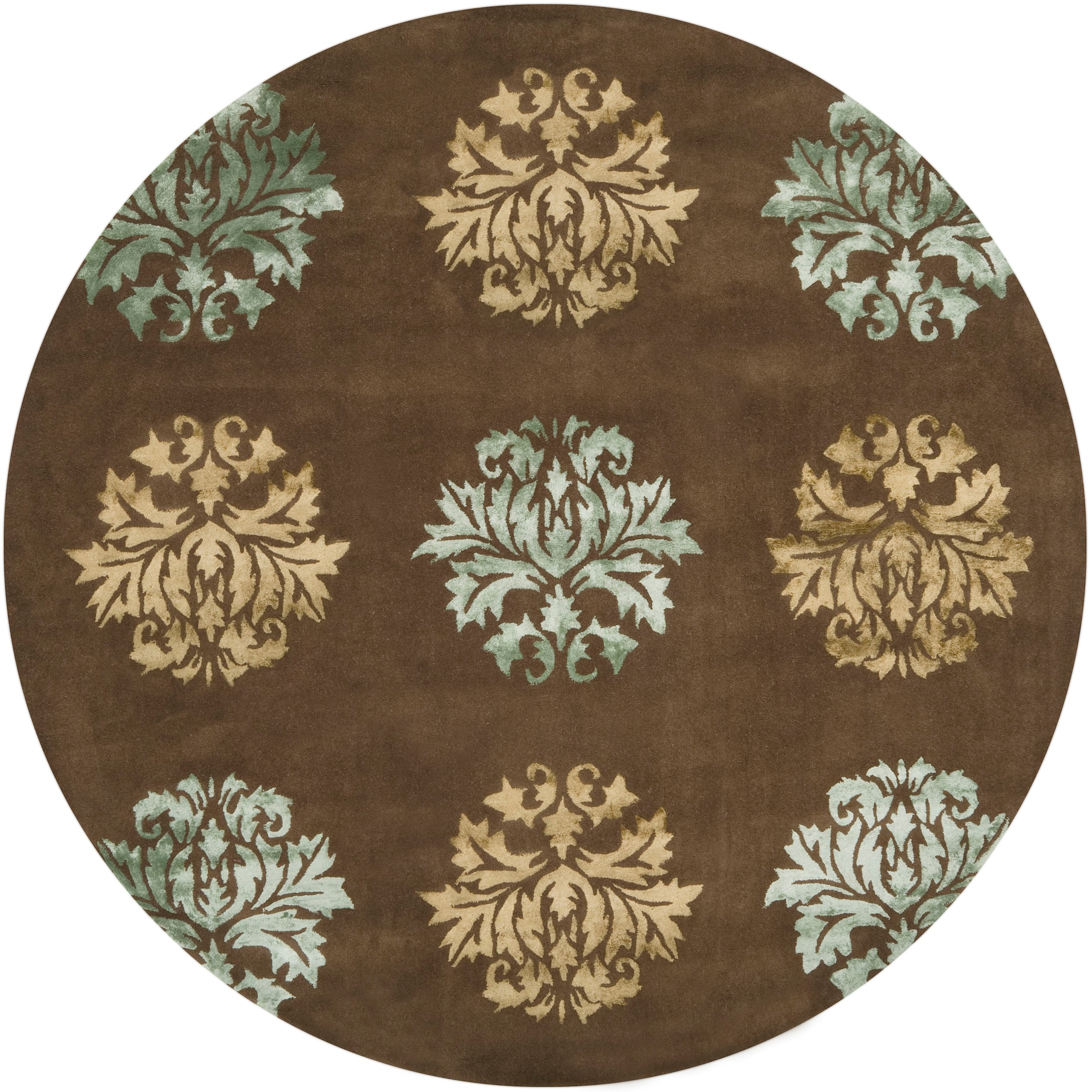 Hand-tufted Brown Bettles Wool Rug (8' Round)