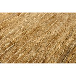 Handwoven Beige Stripes Trinidad Natural Fiber Hemp Rug (3'3