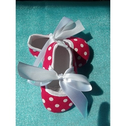 Hot Pink Polka Dot Baby Shoes
