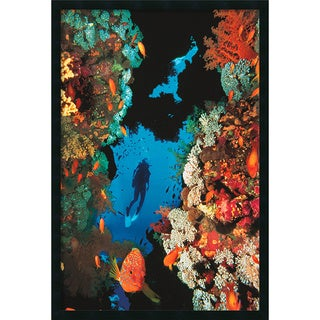 Coral Reef' Framed Art Print with Gel Coated Finish