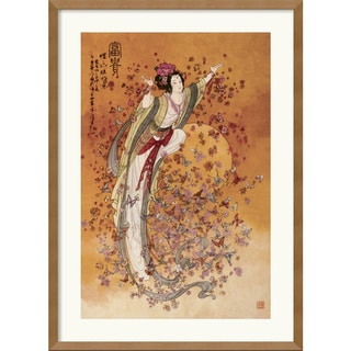 Chinese 'Goddess of Wealth' Framed Medium-Sized Art Print
