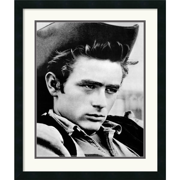 James Dean - Cowboy' Framed Art Print