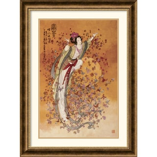 Chinese 'Goddess of Wealth' Framed Art Print