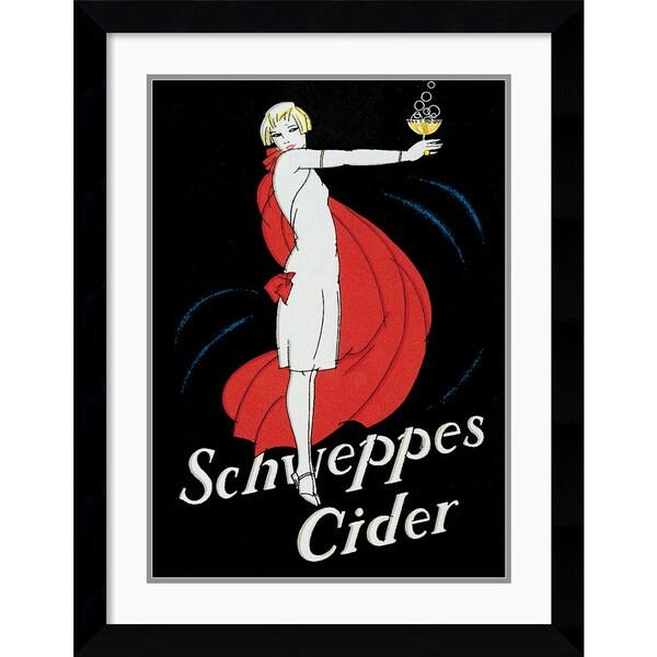 'Schweppes Cider' Framed Art Print