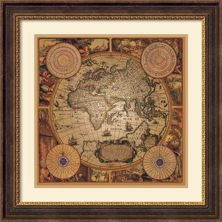 Max Besjana 'Cartographica 1' Framed Art Print