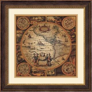 Max Besjana 'Cartographica 2' Framed Art Print