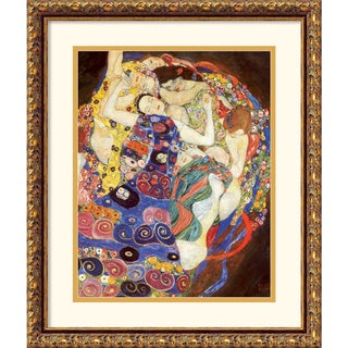Gustav Klimt 'The Virgins (Sleeping Women)' Traditional Framed Art Print